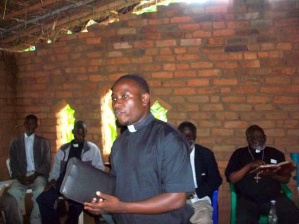 Enock at Malosa village Church